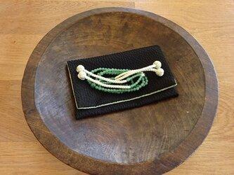 個性派のお数珠入れ(江戸小紋)の画像
