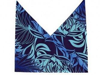 ハワイアンファブリック あづま袋 プロティア柄 ネイビー[mha-178s60]の画像
