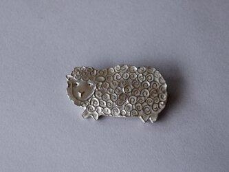 ブローチ(銀彩) ヒツジ-1の画像