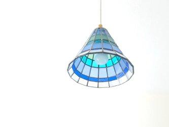 ステンドグラスのペンダントライト*空色海色*の画像