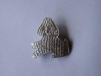 ブローチ (銀彩) イヌ-4の画像