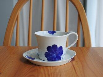 幸せの青いクローバー カップ&ソーサーの画像