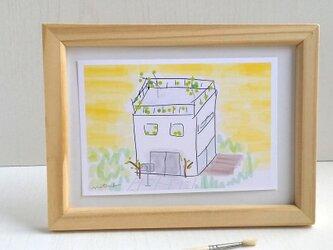 おうち イラスト ポストカード2枚セット 新居祝い ナチュラル アート naturakoの画像