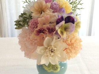 仏花   真珠の涙    天  (造花、仏壇、お供え、お盆、お彼岸)の画像