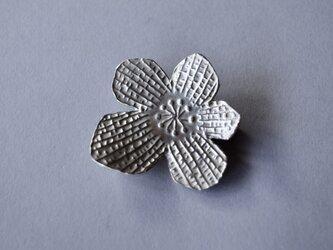 ブローチ(銀彩) 花-13の画像