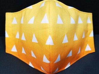 Z-000 フェイス 立体 布 インナー マスク ハンドメイド 伝統 和柄 和風 かっこいい 鱗文様の画像