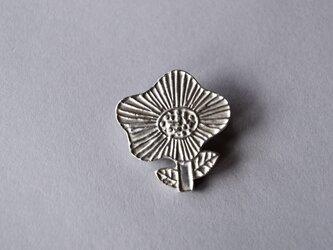 ブローチ(銀彩) 花-7の画像