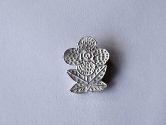 ブローチ(銀彩) 花-8の画像