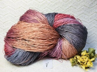 V手染め糸♬多色染めコットンギマ330gの画像