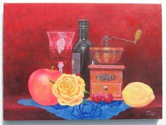 薔薇とワイン2の画像