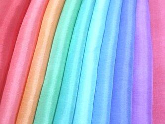 (H-1)正絹 やや薄手胴裏 手染め10枚 はぎれセット つまみ細工用布の画像