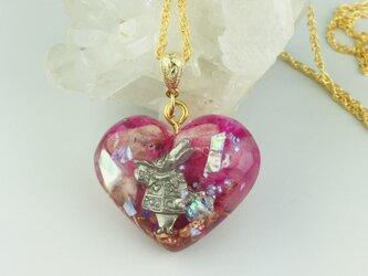 Alice's Orgonite pendantハートを開く鍵の画像