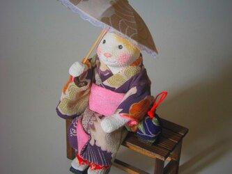 縮緬福猫 日傘 その三十六の画像