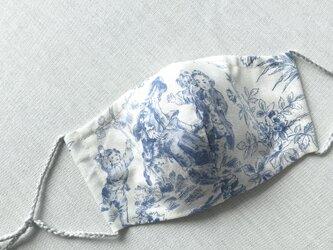パリ購入生地トワル・ド・ジュイ3 立体マスクノーズワイヤーポケット、フィルターポケット付き) 大人Mサイズ 1枚の画像