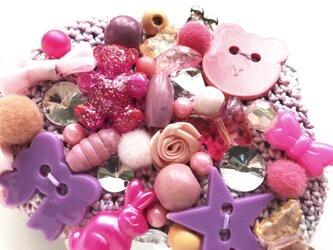 ピンクのがま口の画像