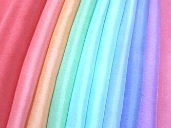 (H-2)正絹 やや薄手胴裏 手染め10枚 はぎれセット つまみ細工用布の画像