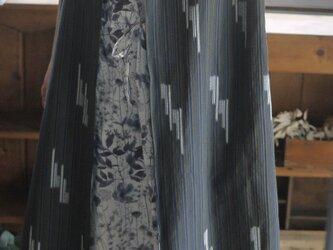 久留米絣反物からロングベストの画像
