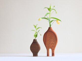 木の親子花瓶【チーク・欅】の画像