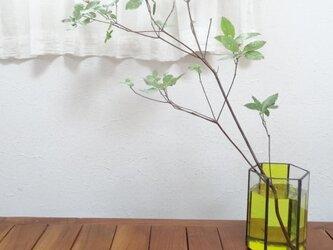 ステンドグラスフラワーベース「Bloom」Sサイズ (イエロー)の画像