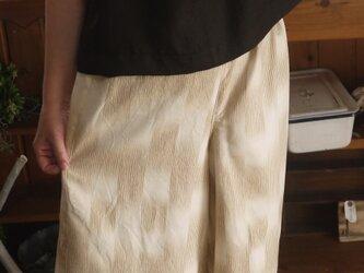 結城紬ガウチョパンツの画像