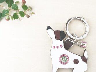 犬のキーリング(ローズ×ペリドット)の画像