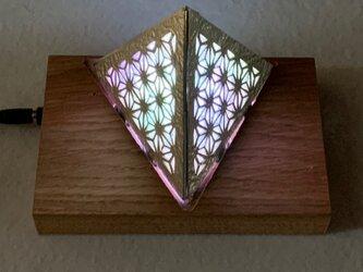 錫のLED照明スタンド 赤外線リモコン付きの画像