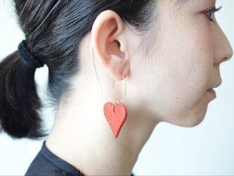 【レザーピアス/イヤリング片耳 】Heartの画像