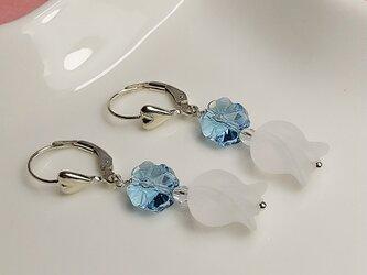 Fleur de glace -氷の花ー silver925フレンチフックピアス  の画像