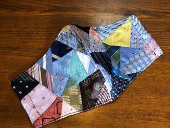 西陣織マスク(パッチワーク)の画像
