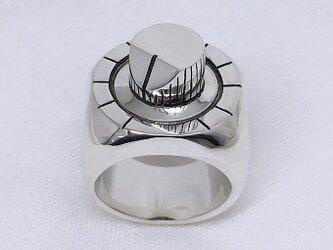 TB-303 knob ring(可動式つまみのごついシルバーリング)の画像