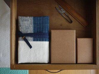お道具袋 #藍と白の画像