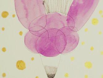 他のサイトで売れました    原画  A4  幸せの花の画像
