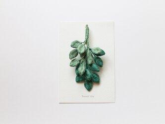 【ブローチ】summer leafの画像