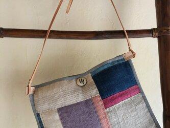 手織りヘンプショルダーバックMの画像