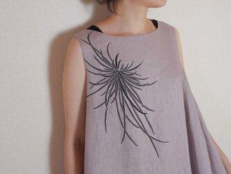 ロングワンピース くすみピンク 墨色乱菊の画像