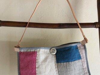手織りヘンプショルダーバックNの画像