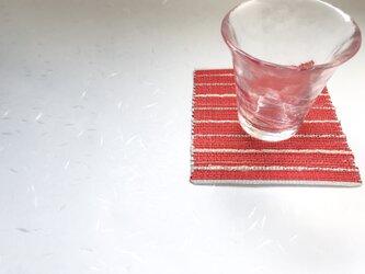 :藤布のコースター:朱の画像