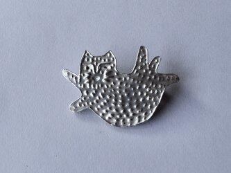 ブローチ(銀彩) ネコ-7の画像