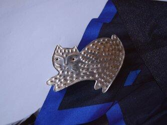 ブローチ(銀彩) ネコ-12の画像
