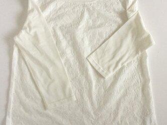 コットンレースのカットソー七分袖✩NEW✩の画像