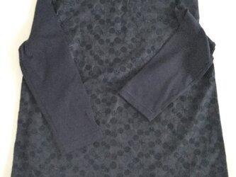 コットンレースのカットソー七分袖✩NEW✩ネイビーの画像