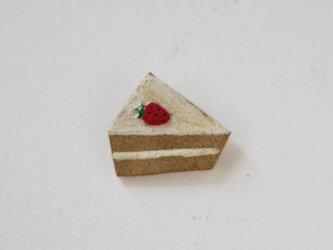 いちごのショートケーキブローチの画像