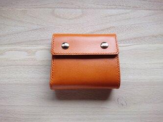 *受注生産* 三つ折り財布#5 栃木レザー/ピアノレザー(キャメル)&ピッグスエード(ベージュ)の画像