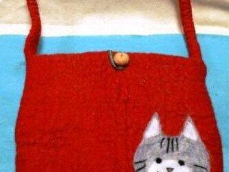 L様 ご予約赤のネコちゃんバッグの画像
