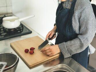 teint TE-001 [日本製品染め]リネン シェフエプロン(ネイビー)の画像