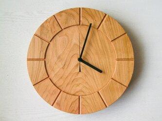 木の時計01(Φ300) No15 | 山桜の画像