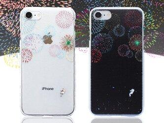 宇宙で打ち上げ花火 プリントケース iPhone12 iPhoneケース各種 スマホケースの画像