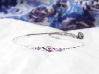 Violet×Silver Short Necklaceの画像