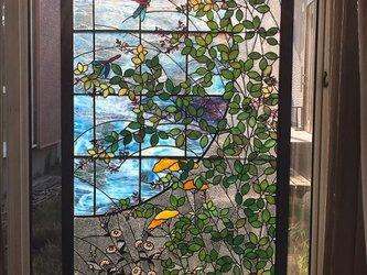 ステンドグラス パネル 初秋の画像