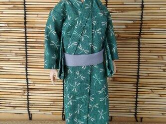 「蜻蛉の浴衣…若竹」28cm男子ドール着物の画像